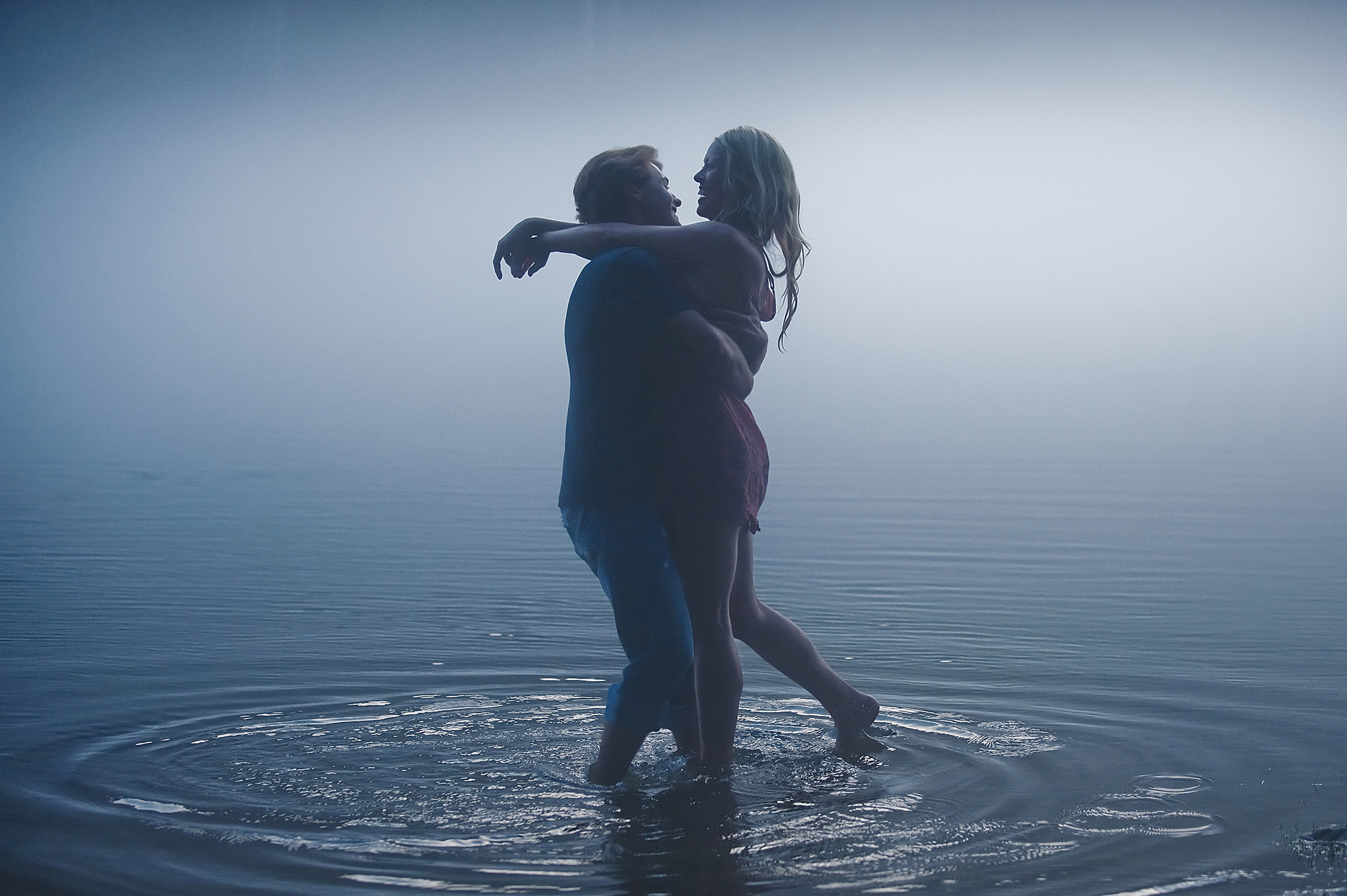 foggy engagement photo by Tara Kneiser