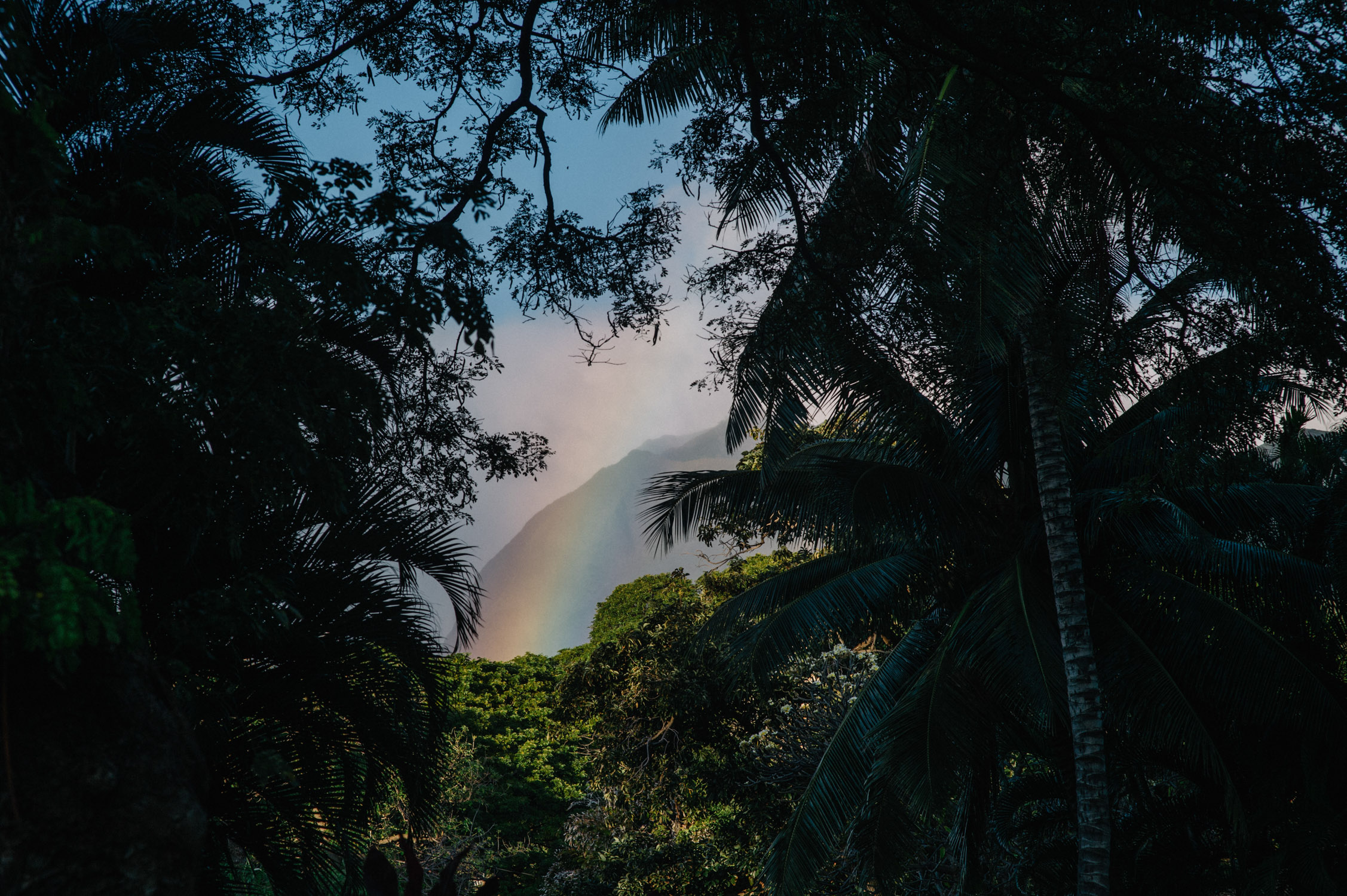 Rainbow over Olowalu Plantation House in Maui